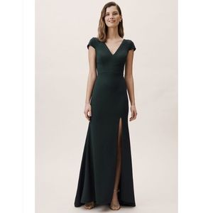 BHLDN Ara Bridesmaid Dress in Dark Emerald
